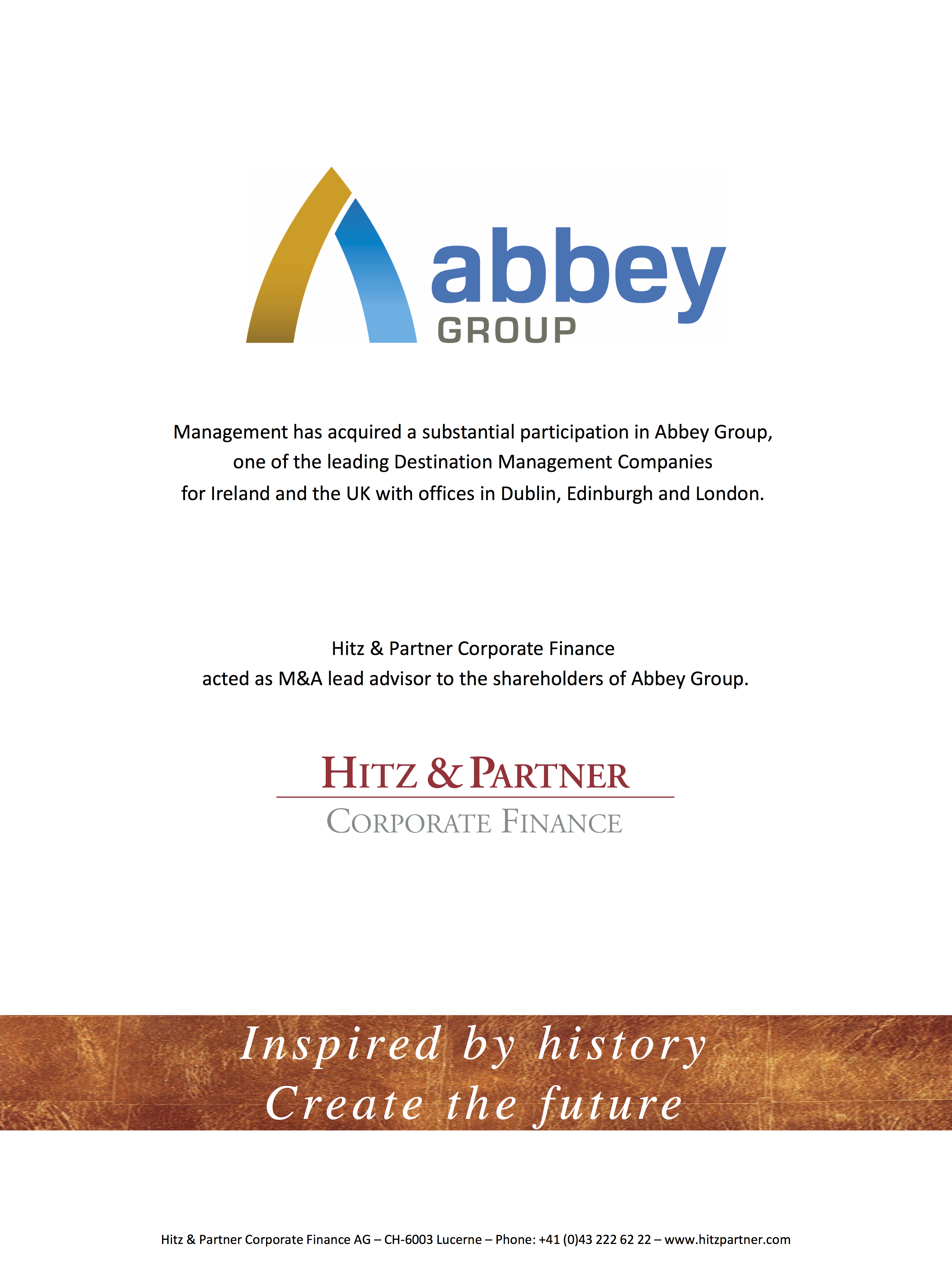 Abbey Group - Management Buy-In