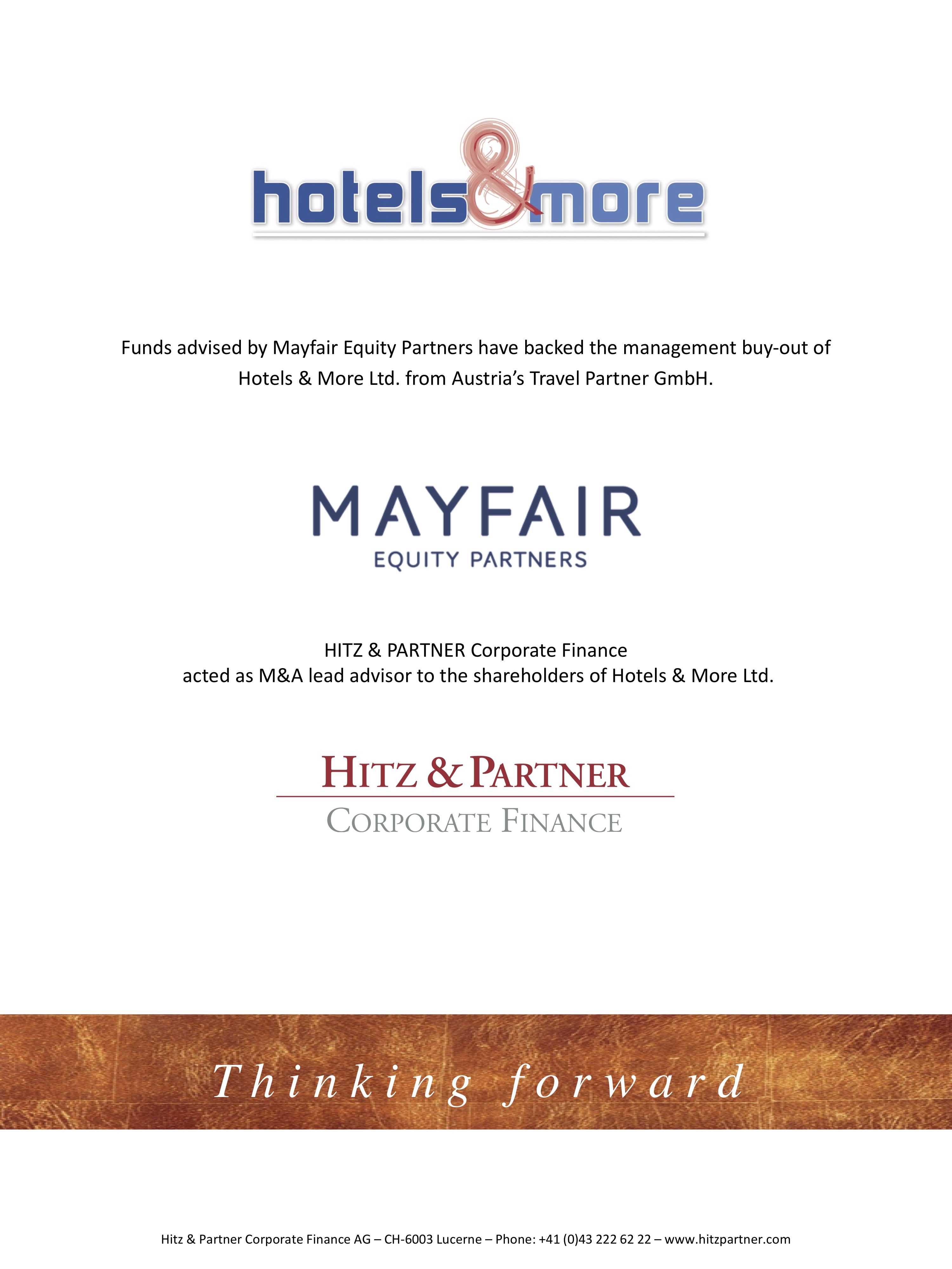Mayfair checks-in to Hotels & More buy-out