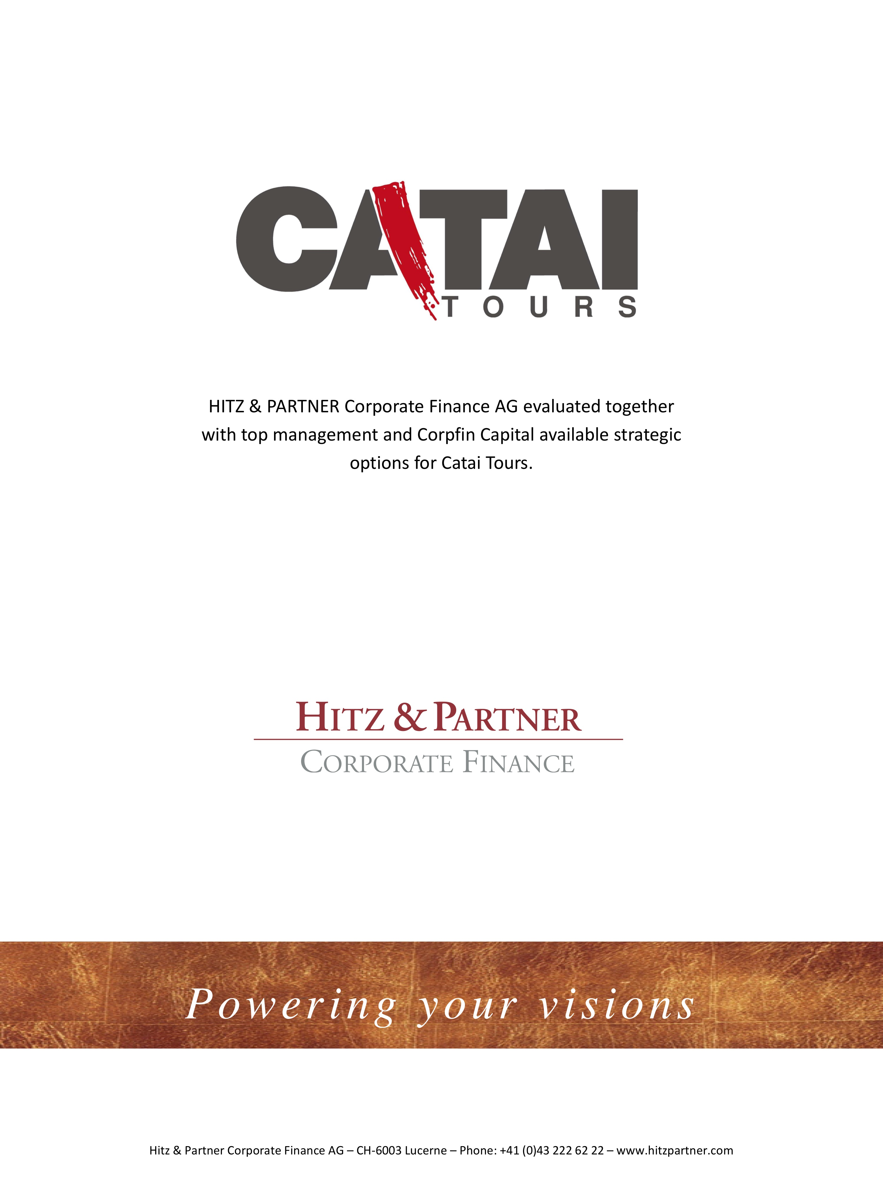 Advisory services for Catai Tours